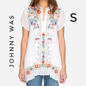 Johnny Was Mikones Floral Embroidered Tunic